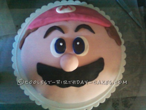 Super Easy Super Mario Cake for a Super Mario Fan
