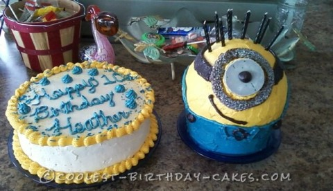 Cool Super Fun Minion Cake