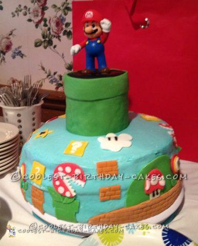 Coolest Super Mario on Buttercream Cake