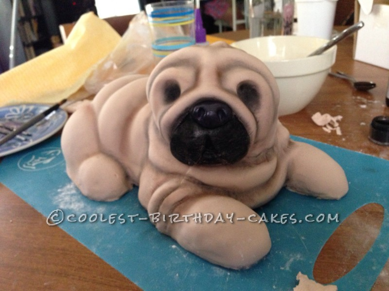 Super Pug Cake to the Rescue