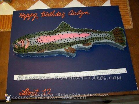 Coolest Rainbow Trout Birthday Cake