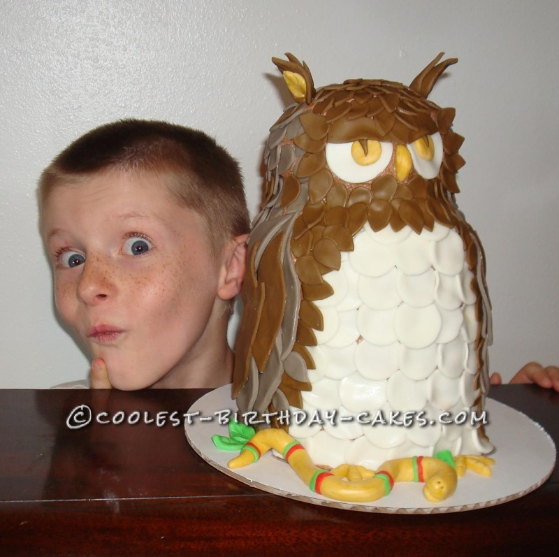 Coolest Owl Cake Ever