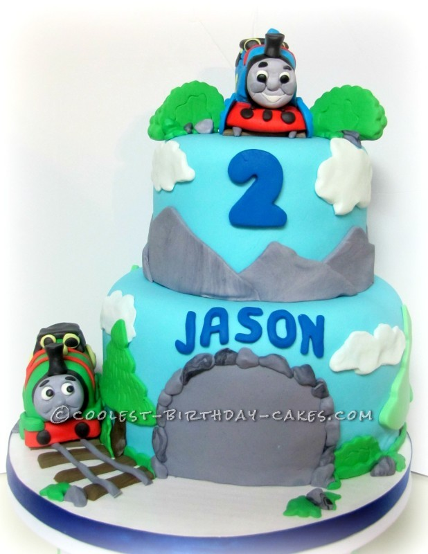 Coolest Thomas And Friends 2nd Birthday Cake