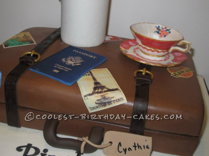 Coolest Travel and Tea Birthday Cake Design
