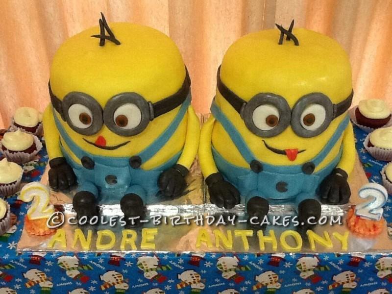 Twin Minion Cake