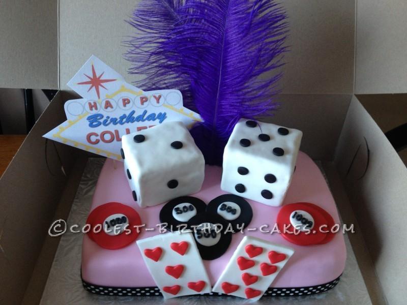 Viva Las Vegas Card Cake