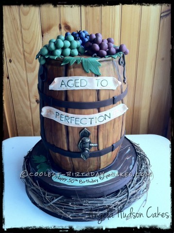 Pleasing Coolest Wine Barrel Cake Funny Birthday Cards Online Elaedamsfinfo
