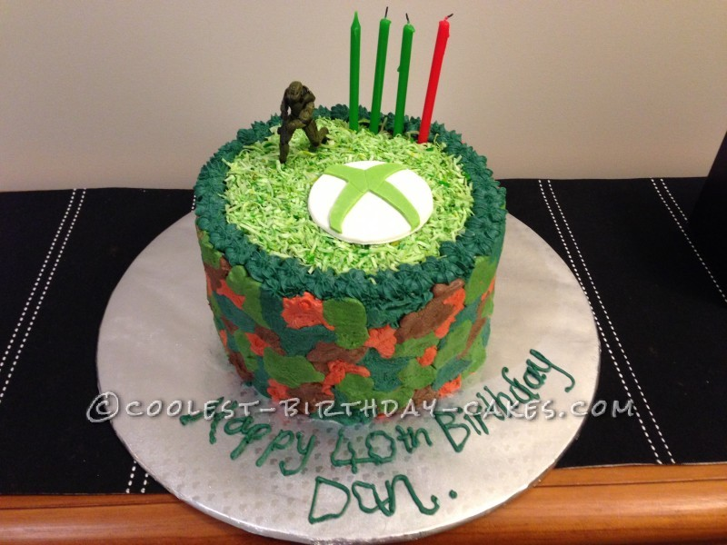 Coolest X-Box One 40th Birthday Cake