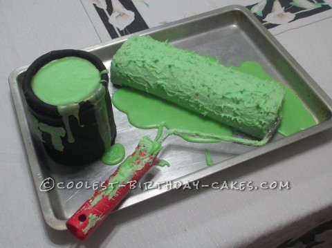 Amazing Paint Roller Birthday Cake