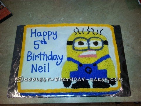 Awesome Minion Cake for 5 Year Old