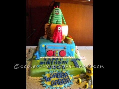 Awesome Yo-Gabba-Gabba CAKE
