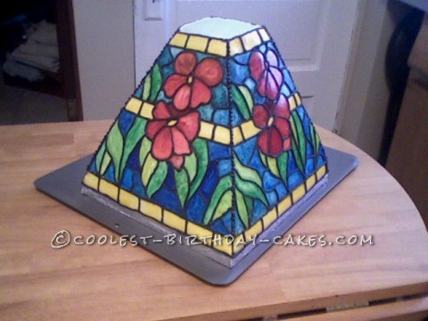 Stained Glass Lamp Cake that Lights Up!