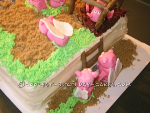"Coolest ""When Pigs Fly"" Cake"