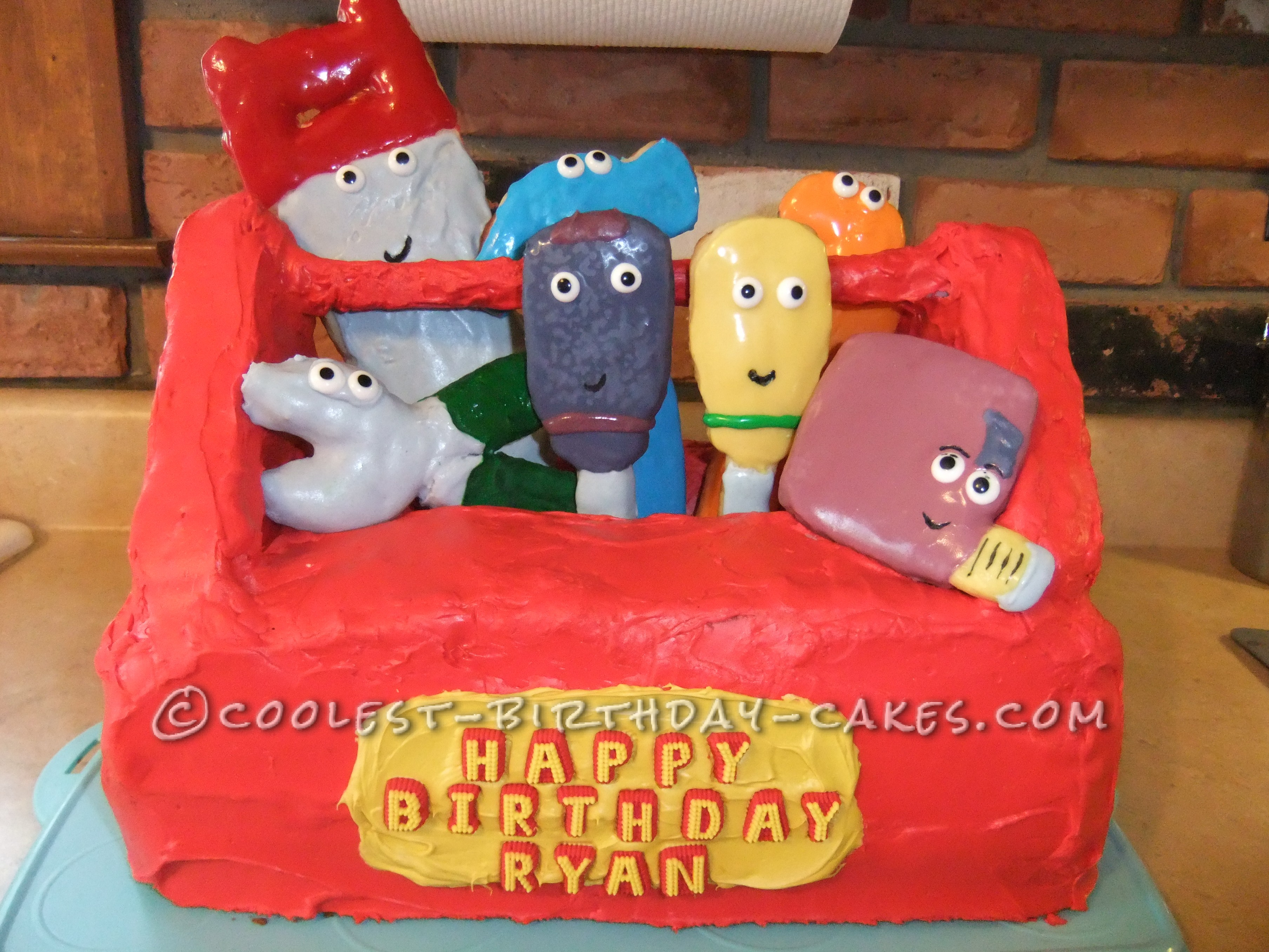 Coolest Handy Manny Toolbox Cake