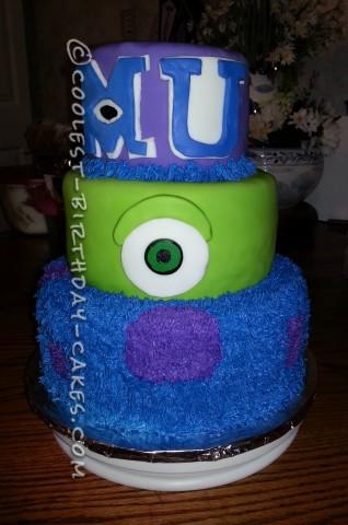 Coolest Monster University Cake