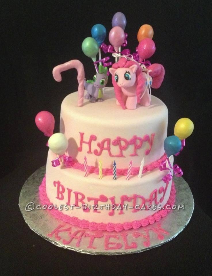 Cool Homemade My Little Pony Pinkie Pie Cake