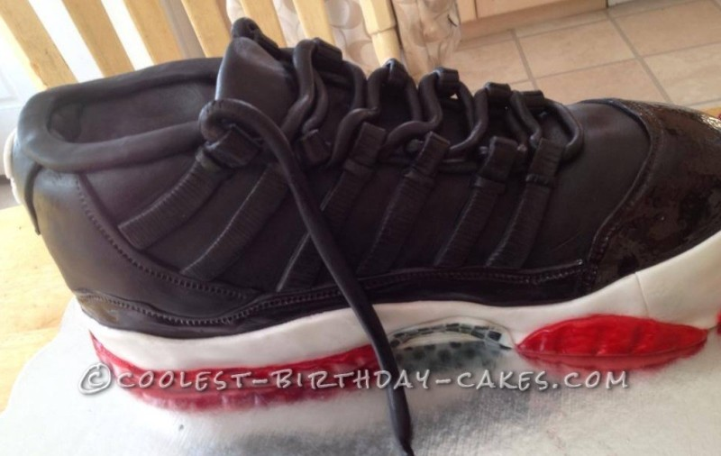 Coolest Retro 11 Jordan Sneaker and Shoe Box Cake