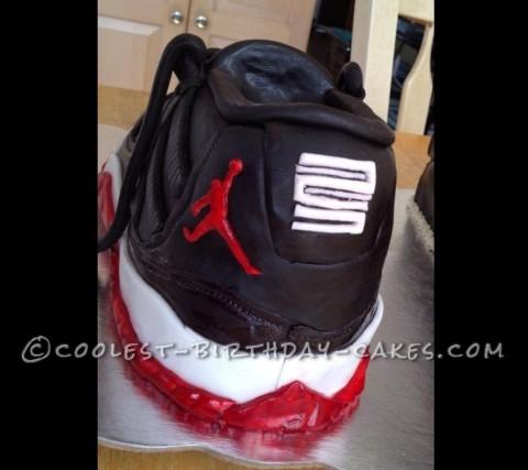 Coolest Retro 11 Jordan Sneaker and Shoe Box Cake