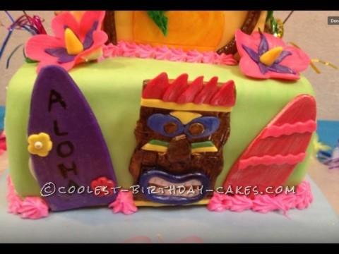 Coolest Sweet 16 Luau Cake