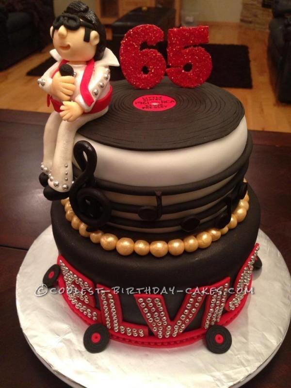 Pleasing Cool Homemade Elvis Birthday Cake Birthday Cards Printable Opercafe Filternl