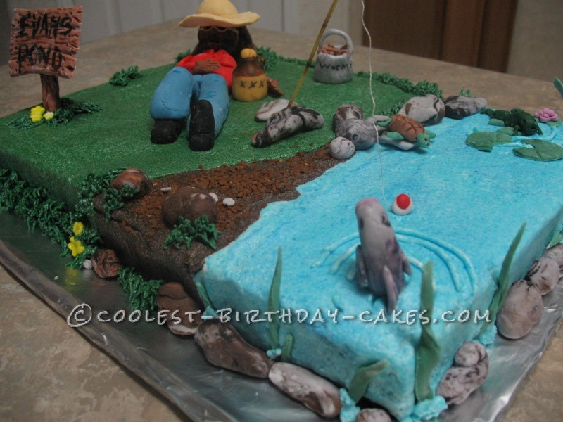 Outstanding Coolest Homemade Fishing Cakes Personalised Birthday Cards Epsylily Jamesorg