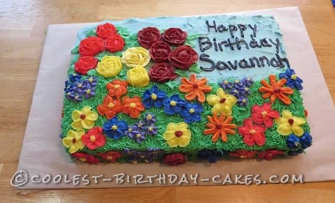 Beautiful Floral Cake for 2-Year-Old Birthday