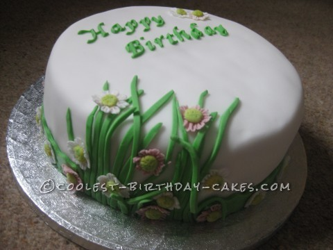 Flower Power Birthday Cake