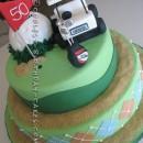 Golf Themed 50th Birthday Cake