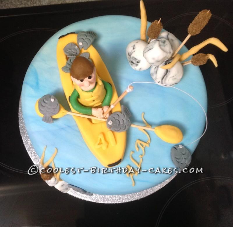 Gone Fishing Birthday Cake