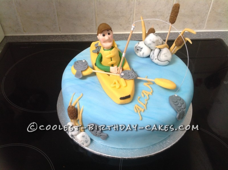 Gone Fishing Birthday Cake