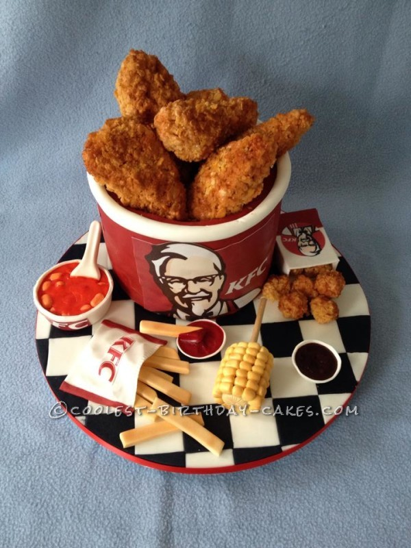 Coolest Kfc Bucket Of Chicken And Sides Cake