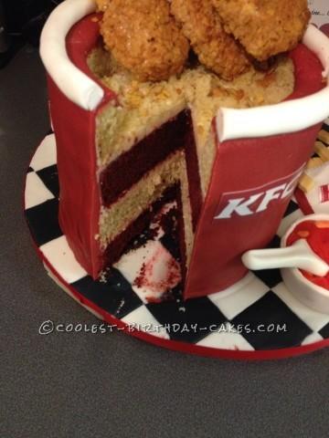 Inside the kfc cake