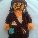 Lego Minifigure Pirates of the Caribbean Cake