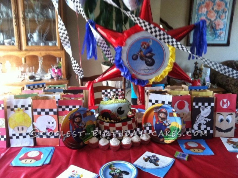 Mario Kart Cake And Party