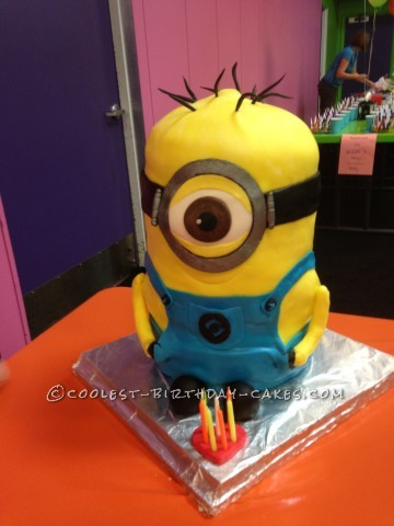 Coolest Minion Cake for 7th Birthday