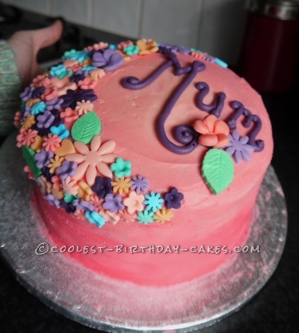 Pink Ombre Mother's Day Cake