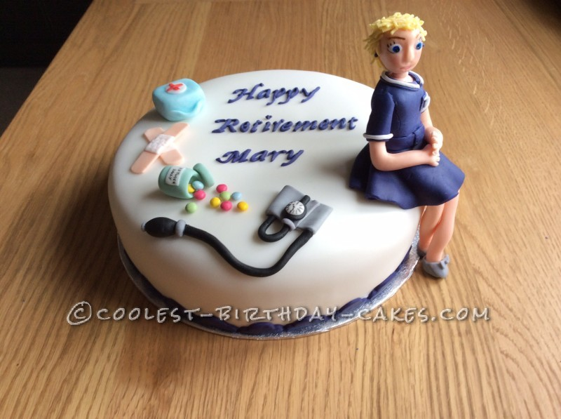 Cool Homemade Retirement Cake