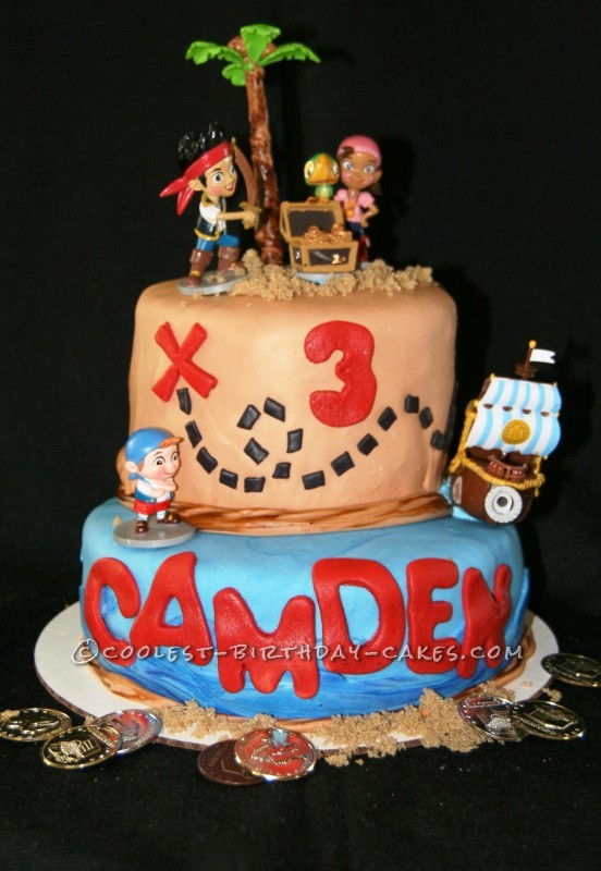 Enjoyable Simple And Cool Jake And The Neverland Pirates Cake Funny Birthday Cards Online Inifofree Goldxyz