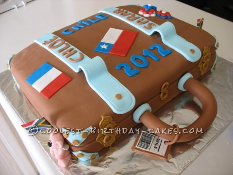 Suitcase Cake for a Farewell