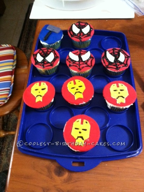 Coolest 5 Shaped Superhero Cake