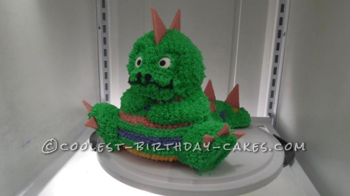 Outstanding Adorable Dinosaur Cake For 3 Year Old Girl Funny Birthday Cards Online Overcheapnameinfo
