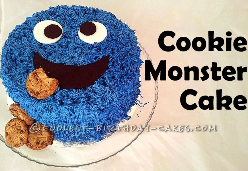 Remarkable Cool Cookie Monster Cake Personalised Birthday Cards Petedlily Jamesorg