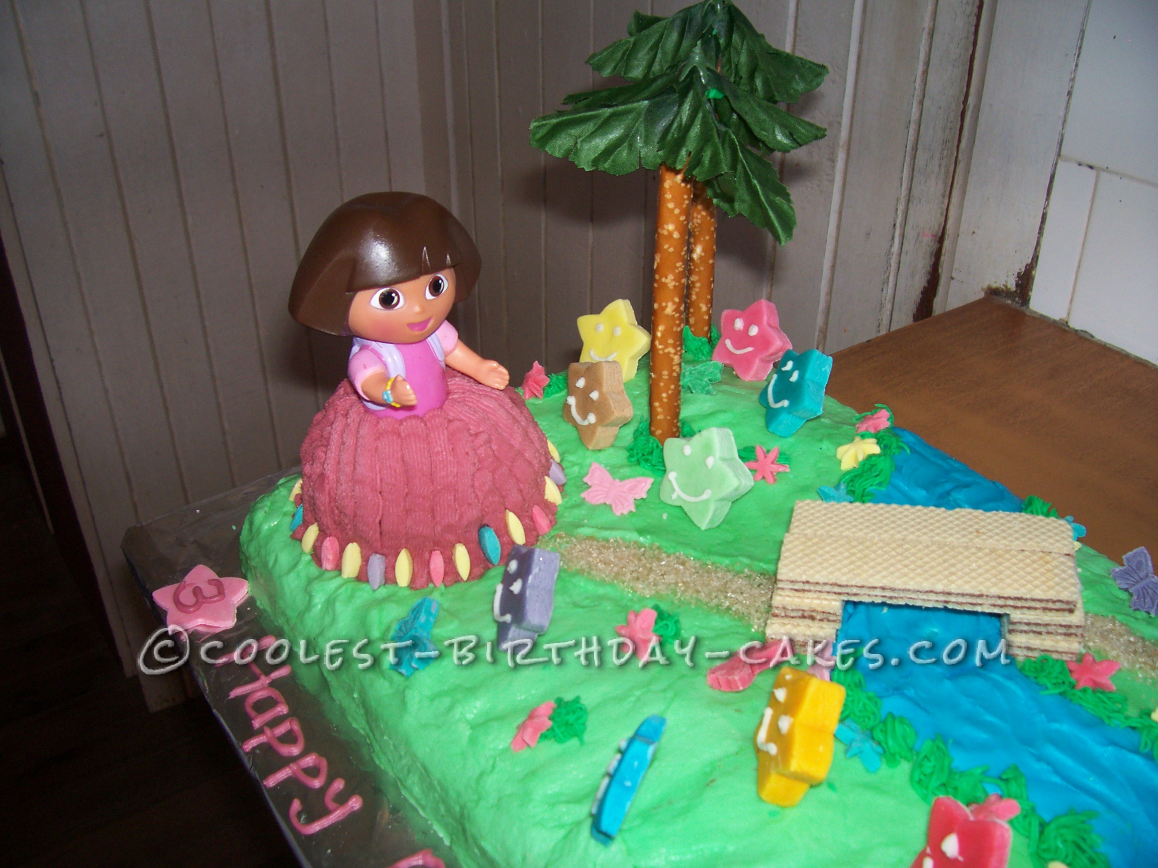 Coolest Dora Scene Cake For A 3 Year Old Girl