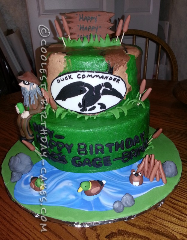 Admirable Coolest Duck Commander Cake Personalised Birthday Cards Veneteletsinfo