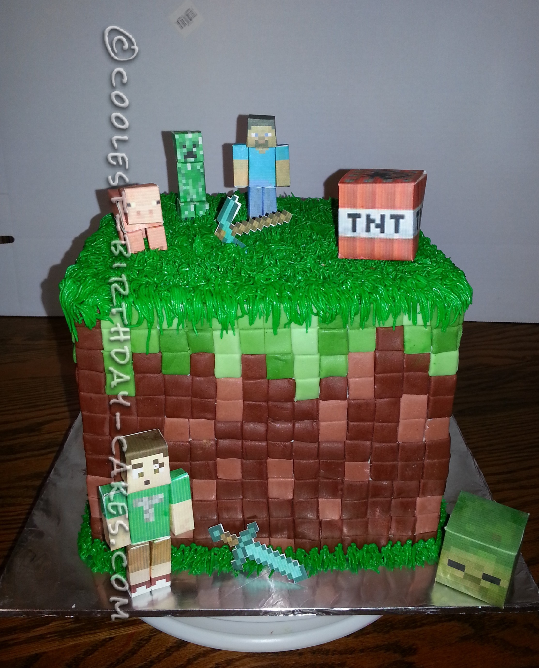 Coolest Minecraft Birthday Cake Idea