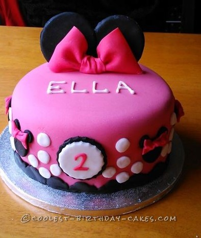 Admirable Coolest Homemade Minnie Mouse Cakes Personalised Birthday Cards Veneteletsinfo