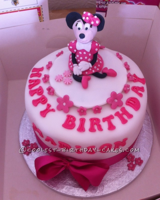 Fine Coolest Minnie Mouse Birthday Cake Idea Funny Birthday Cards Online Alyptdamsfinfo