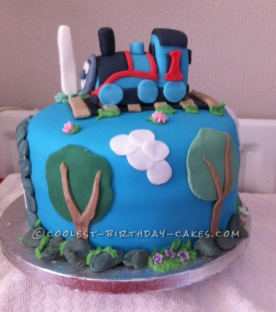 Coolest Thomas the Tank Cake