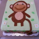 Cutest Monkey Baby Shower Cake