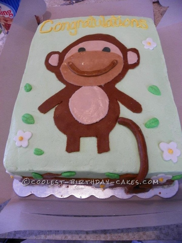 Cutest Monkey Baby Shower Cake